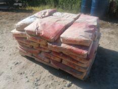 Pallet of 42 Bags 50 LBS of Calcium Carbonate & (5) Boxes of Mono-Tuf Fibers for Concrete