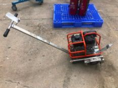 Husqvarna Soff-Cut 150 Concrete Saw, Serial #20180300046, Model Soff-Cut 150. Located at 301 E Henry