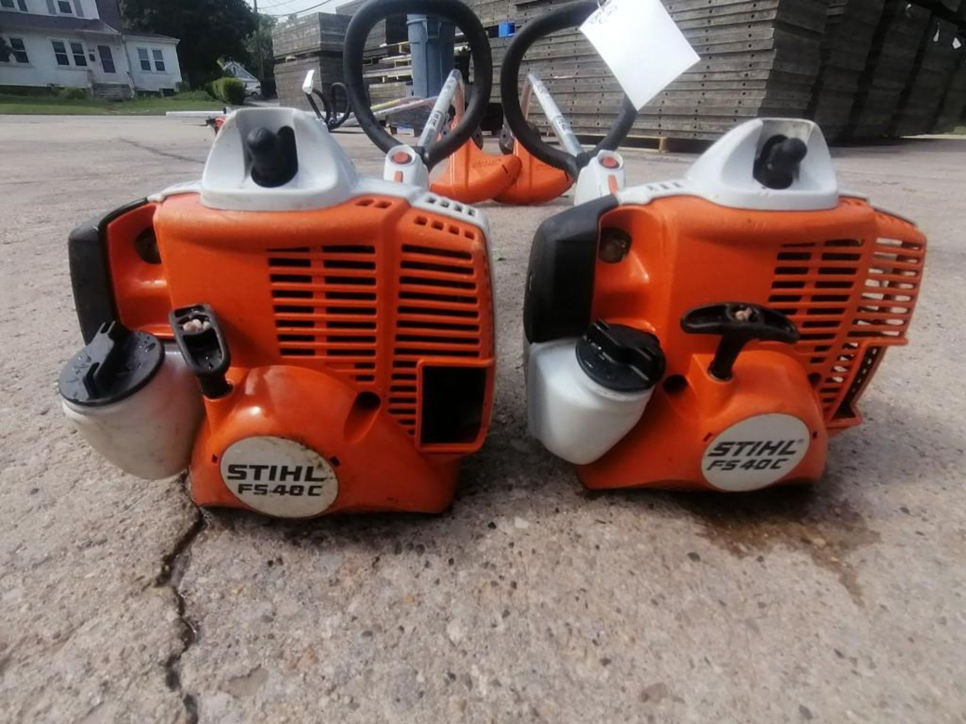 Lot 38 - (2) Stihl FS40C String Trimmer. Located at 301 E Henry Street, Mt. Pleasant, IA 52641.