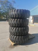 (4) 20.5-25 RT 2000 E3/L3 Tires, 12 Bolt Pattern with Rims. Located in Mt. Pleasant, IA.