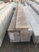 "(13) 8"" x 8' Smooth Aluminum Concrete Forms 6-12 Hole Pattern. Located in Ixonia, WI"