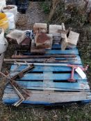(1) Pallet of Miscellaneous Metal, Wood & Anchor Bolts. Located in Ixonia, WI