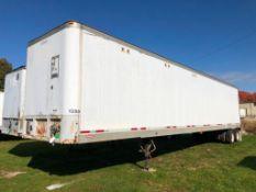 1991 Fruehauf 48' Van Trailer, VIN #1H2V04826ME026539. Located in Burlington, IA.
