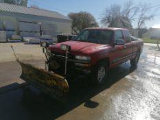1999 Chevrolet 1500 Extended Cab Pickup with Meyer Snow Plow, VIN #2GCEK19V8X1244689, 194521