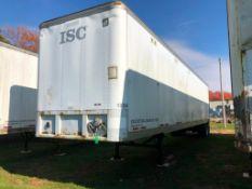 1991 Fruehauf 48' Van Trailer, VIN #1H2V04822ME029339. Located in Burlington, IA.