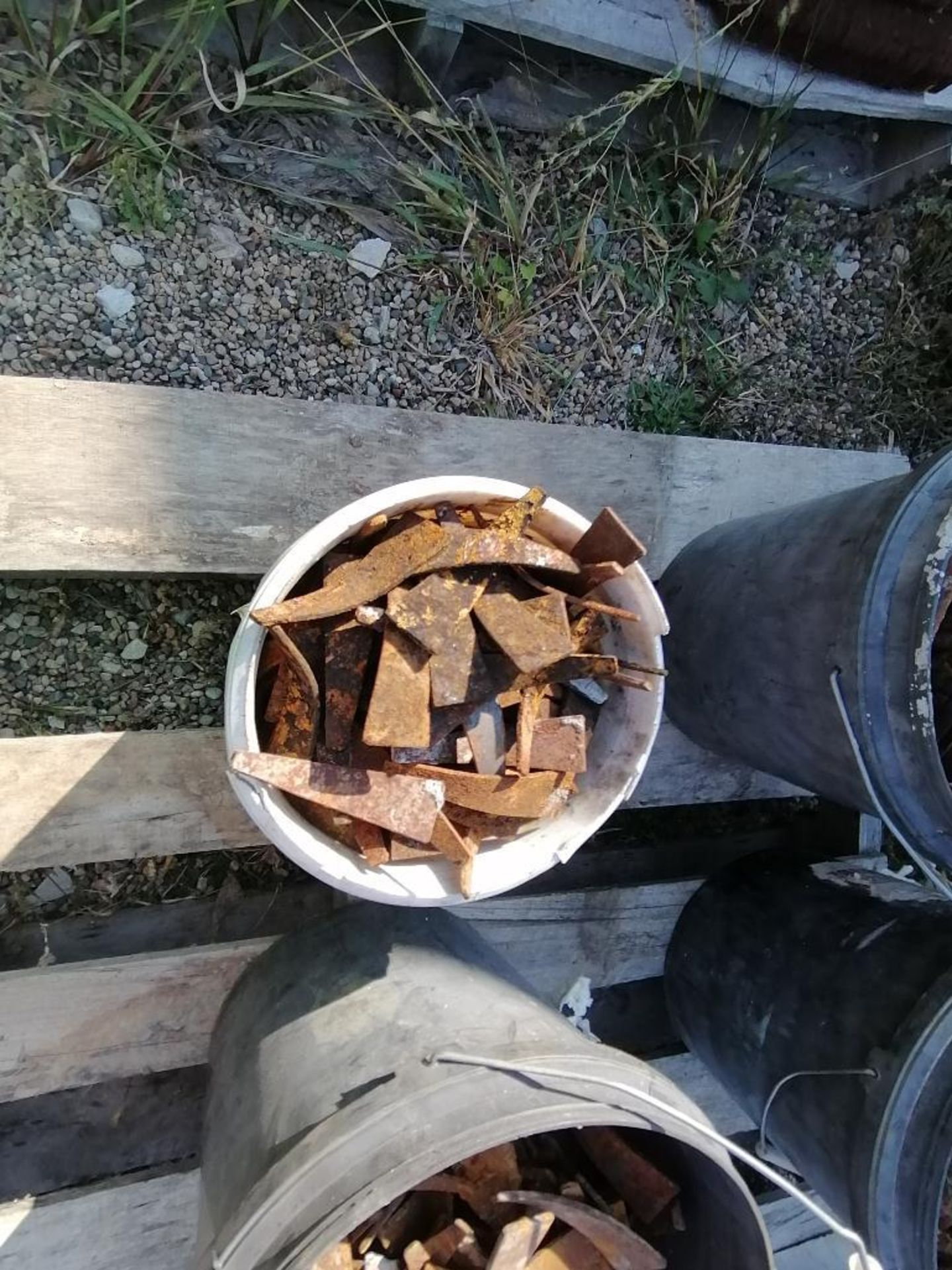 (8) Buckets of Pins, Wedges, Whalers. Located in Woodbine, IA - Image 7 of 14