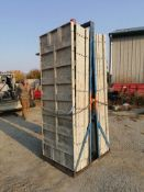 "(16) 36"" x 8' Smooth Aluminum Concrete Forms 6-12 Hole Pattern, Bell Basket included. Located in"