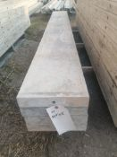 "(4) 11"" x 8' Smooth Aluminum Concrete Forms 6-12 Hole Pattern. Located in Ixonia, WI"