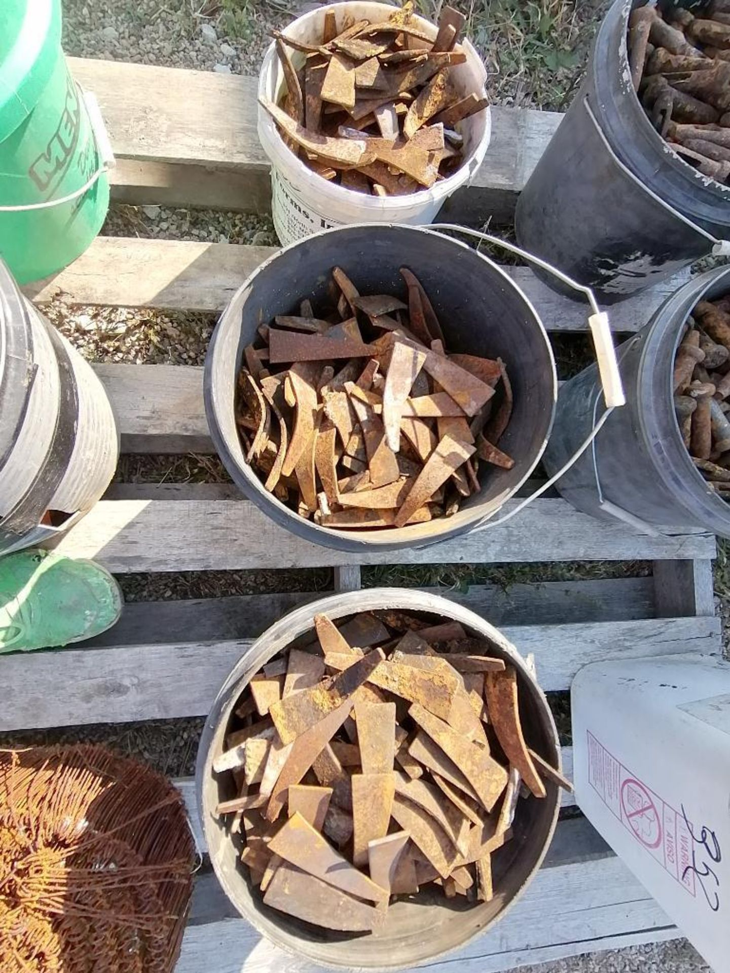 (8) Buckets of Pins, Wedges, Whalers. Located in Woodbine, IA - Image 4 of 14