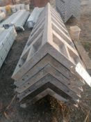 "(6) 14"" x 14"" x 8' Wraps Smooth Aluminum Concrete Forms 6-12 Hole Pattern, Located in Ixonia, WI"