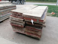 (26) 2' x 8' Damaged Ellis Steel Ply Forms. Located in Mt. Pleasant, IA