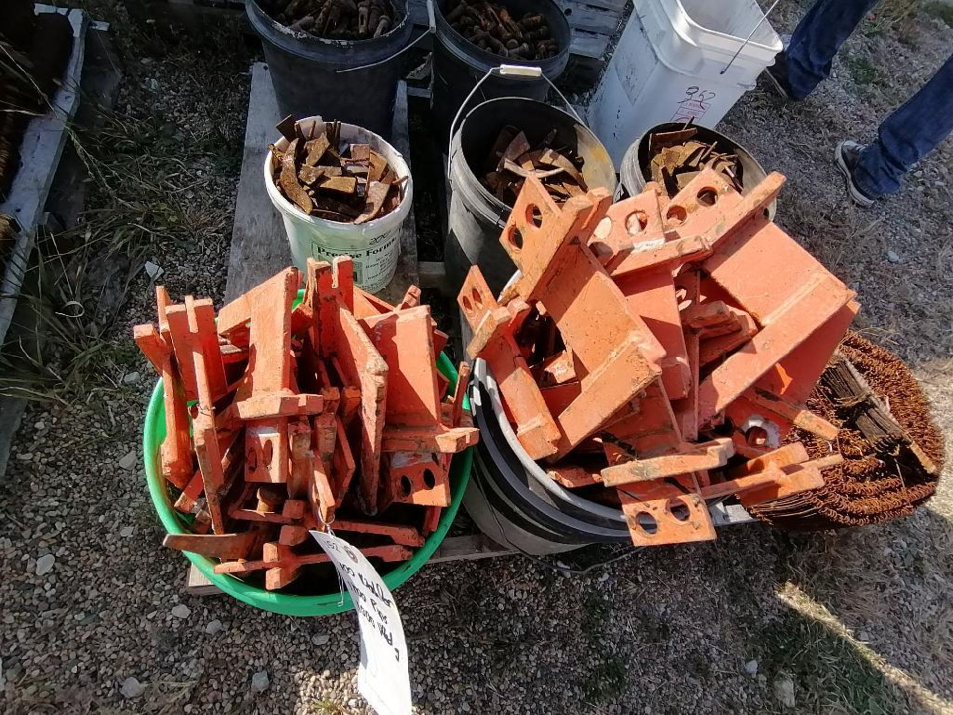 (8) Buckets of Pins, Wedges, Whalers. Located in Woodbine, IA - Image 2 of 14