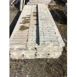 """(6) 20"""" x 9', (4) 14"""" x 9' & (12) 10"""" x 9' Textured Brick Aluminum Concrete Forms 6-12 Hole"""