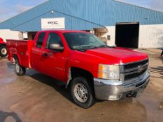 2008 Chevy 2500 HD Utility Extended Cab Pickup Truck, VIN #1GBHC29K28E159258, Vortec 6.0L Engine,