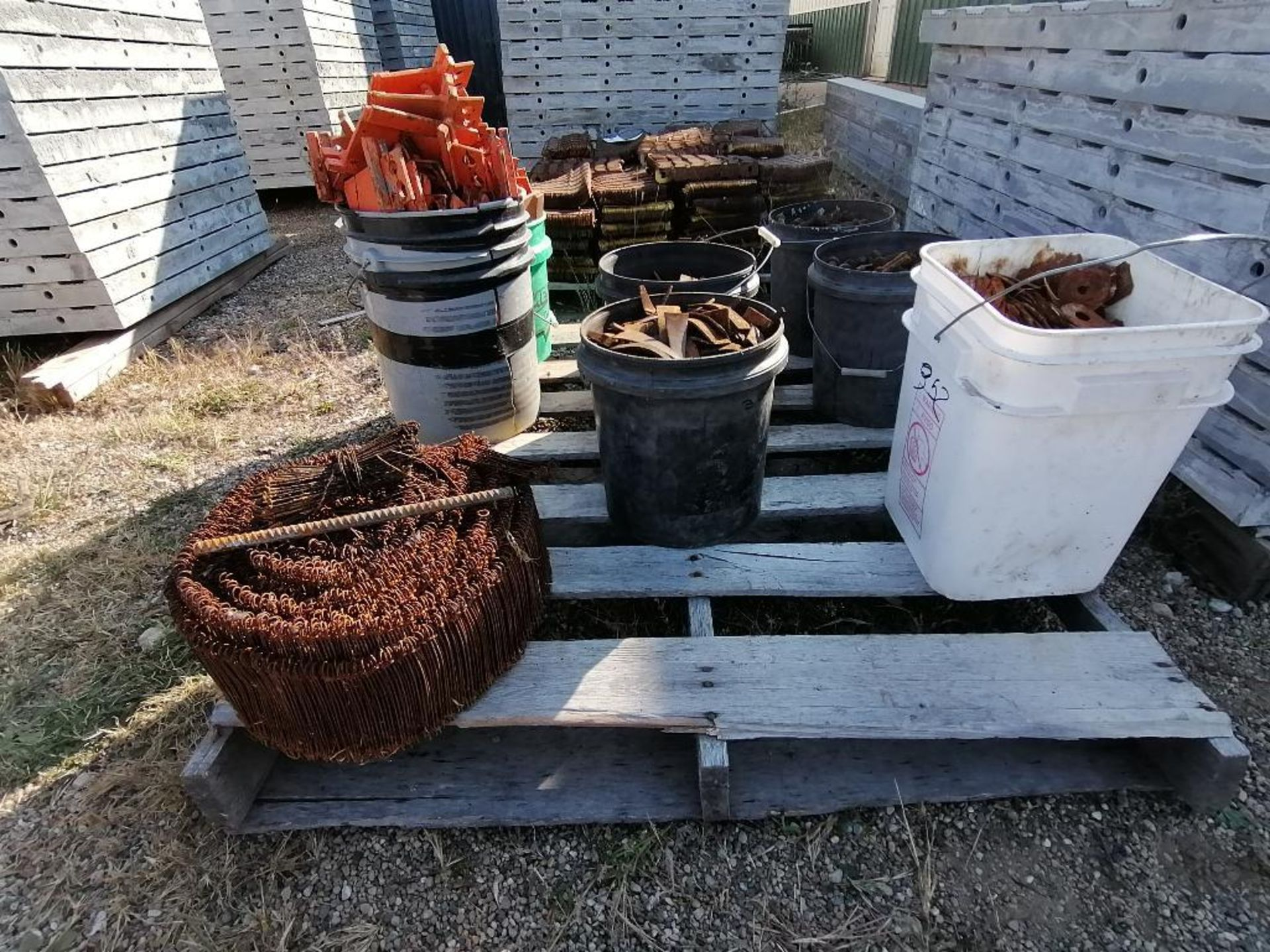 (8) Buckets of Pins, Wedges, Whalers. Located in Woodbine, IA - Image 14 of 14