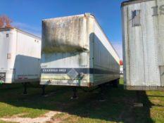 1986 Great Dane 48' Van Trailer, Model 744TL 48, VIN #1GRAA9624GB044781. Located in Burlington, IA.