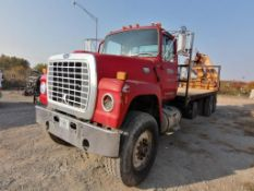 1986 Ford 9000 Boom Truck, VIN #1FDYU90W1GVA23246, 400,318 Miles Cummins Engine, Eaton Fuller 8-