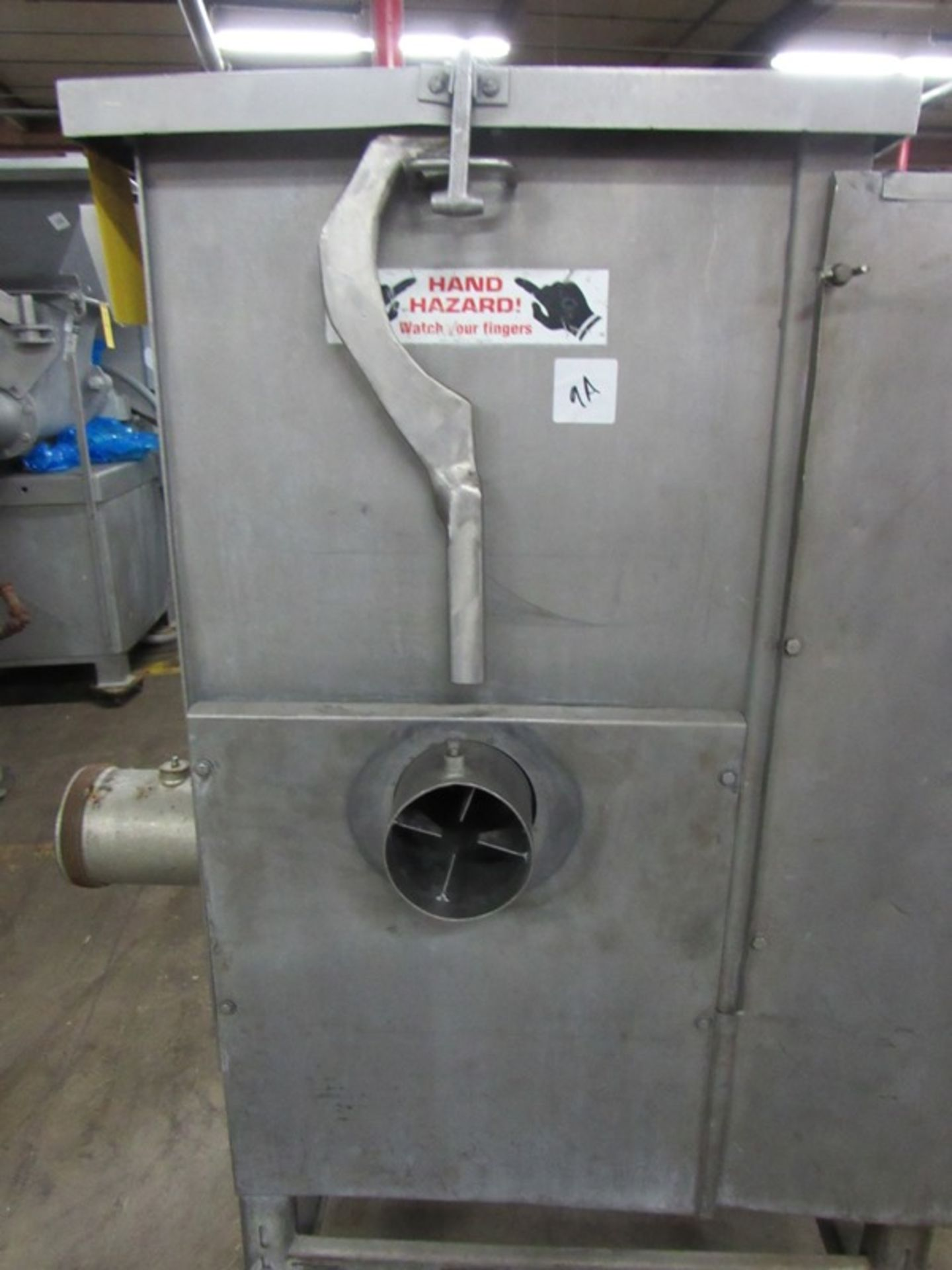 "Lot 9 - Biro Mdl. AFMG-52 Mixer/Grinder, 20"" W X 23"" L X 28""D mixing chamber, side meat inlet, 5"" head, on"