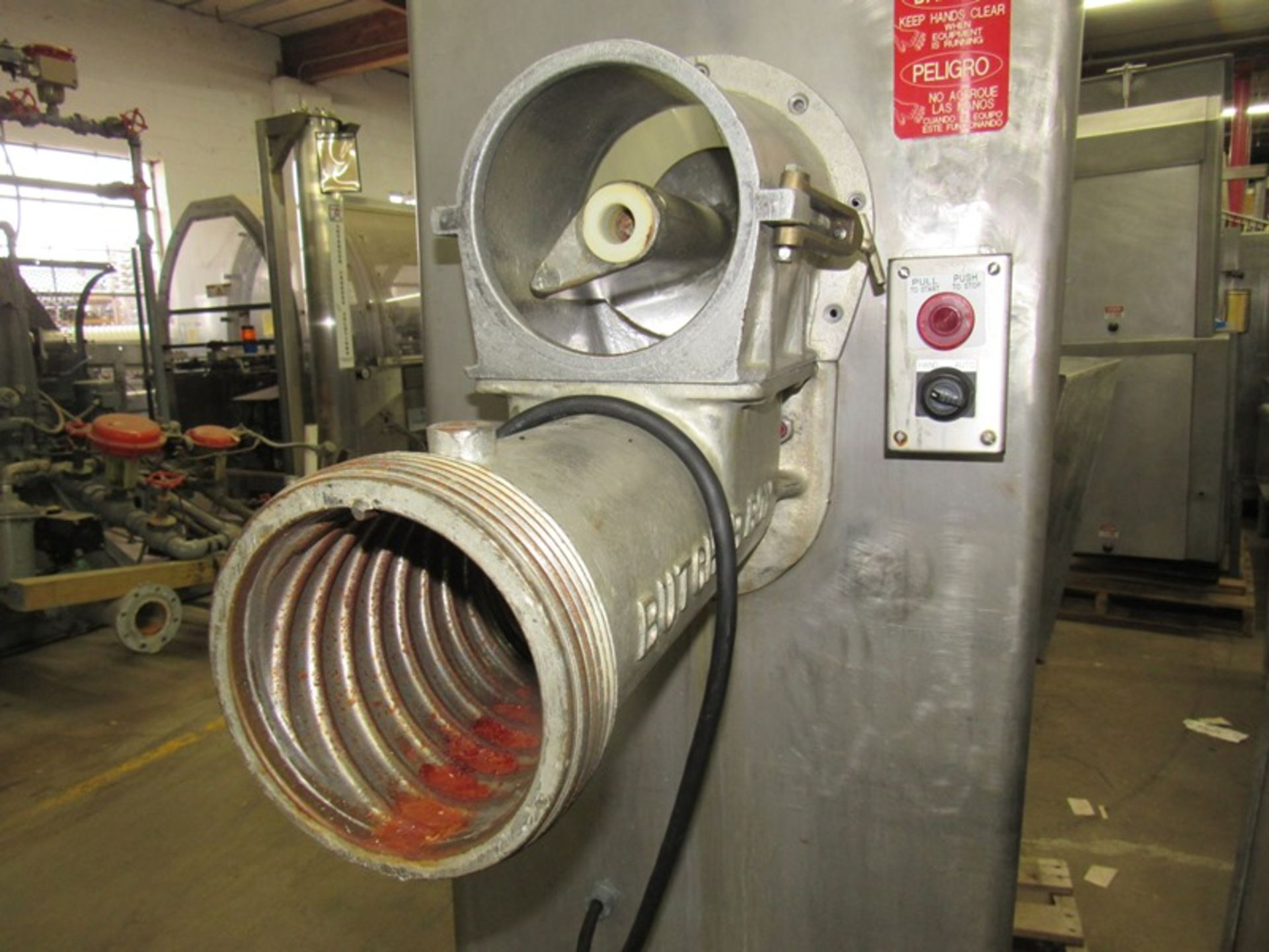Lot 24 - Butcher Boy Mdl AU56 Mixer/Grinder, missing mixing arms, auger motor head parts;*** All Funds Must