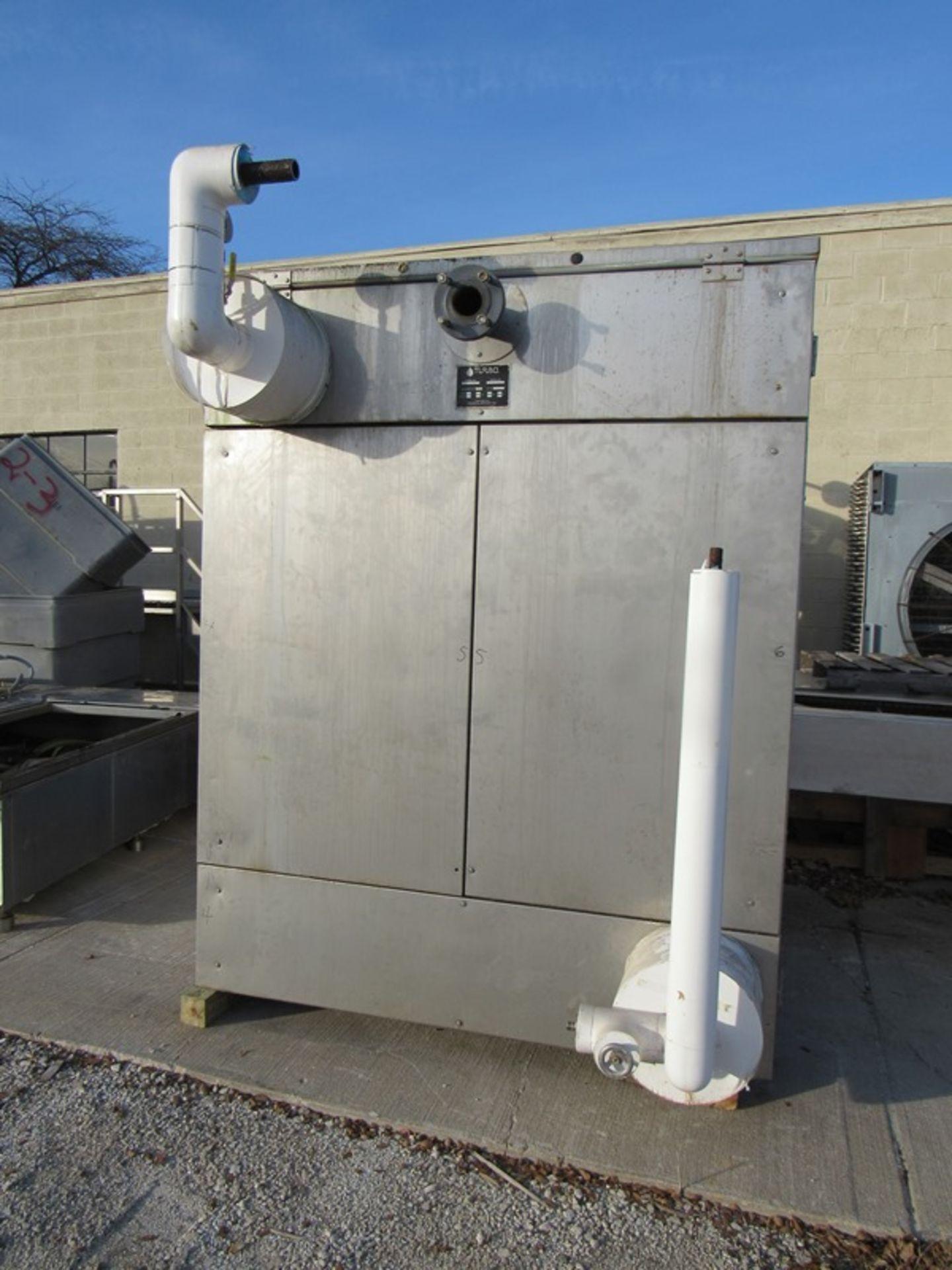 """Lot 3 - Turbo Mdl F6001-HTDA-4060FL Ammonia Chiller w/holding tank, 75"""" W X 92"""" L X 18"""" D, single plate"""