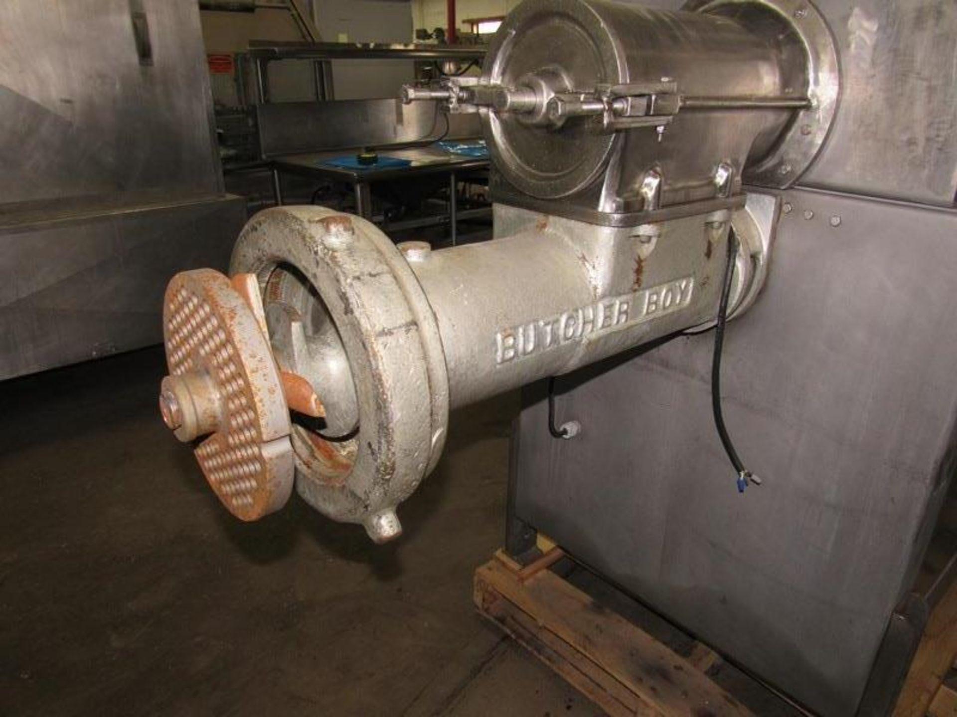 """Lot 14 - Butcher Boy Mdl. 500/56 Mixer/Grinder, 20 h.p. grinder motor, 5 h.p. feed screw motor, 8"""" plate, 220"""