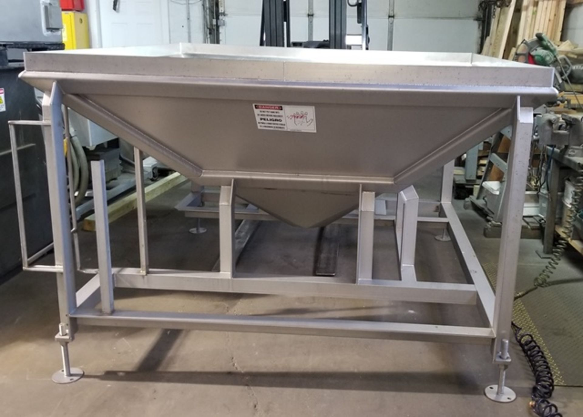 Lot 181 - Fusion Tech Stainless Steel Hopper, used to transfer ground or emulsified food products