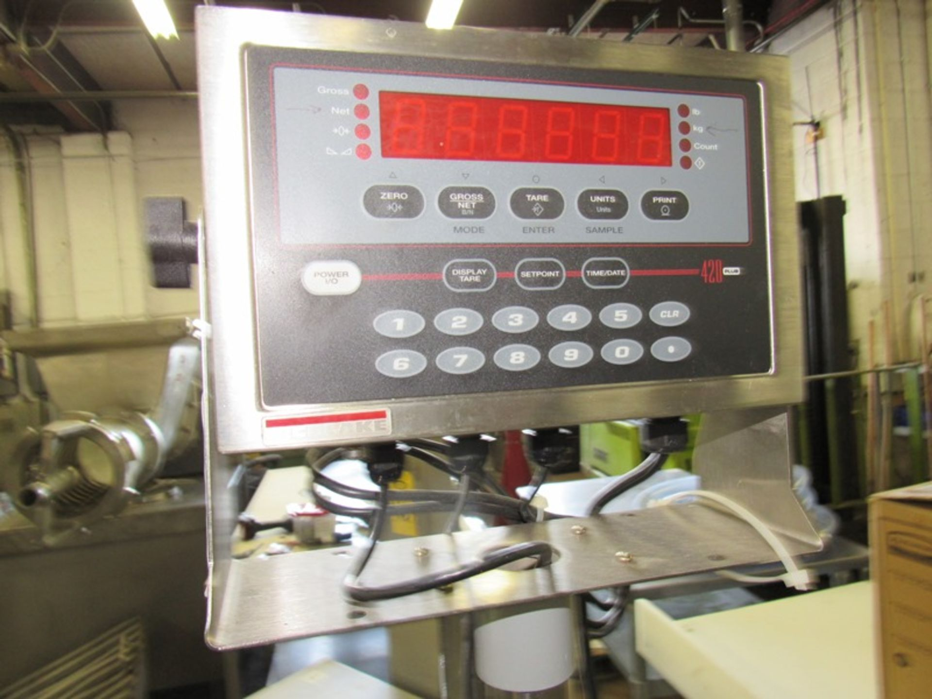 """Lot 44 - Rice Lake Mdl. 420 Digital Scale, 24"""" X 24"""" stainless steel platform;with GoDex Printer;*** All"""