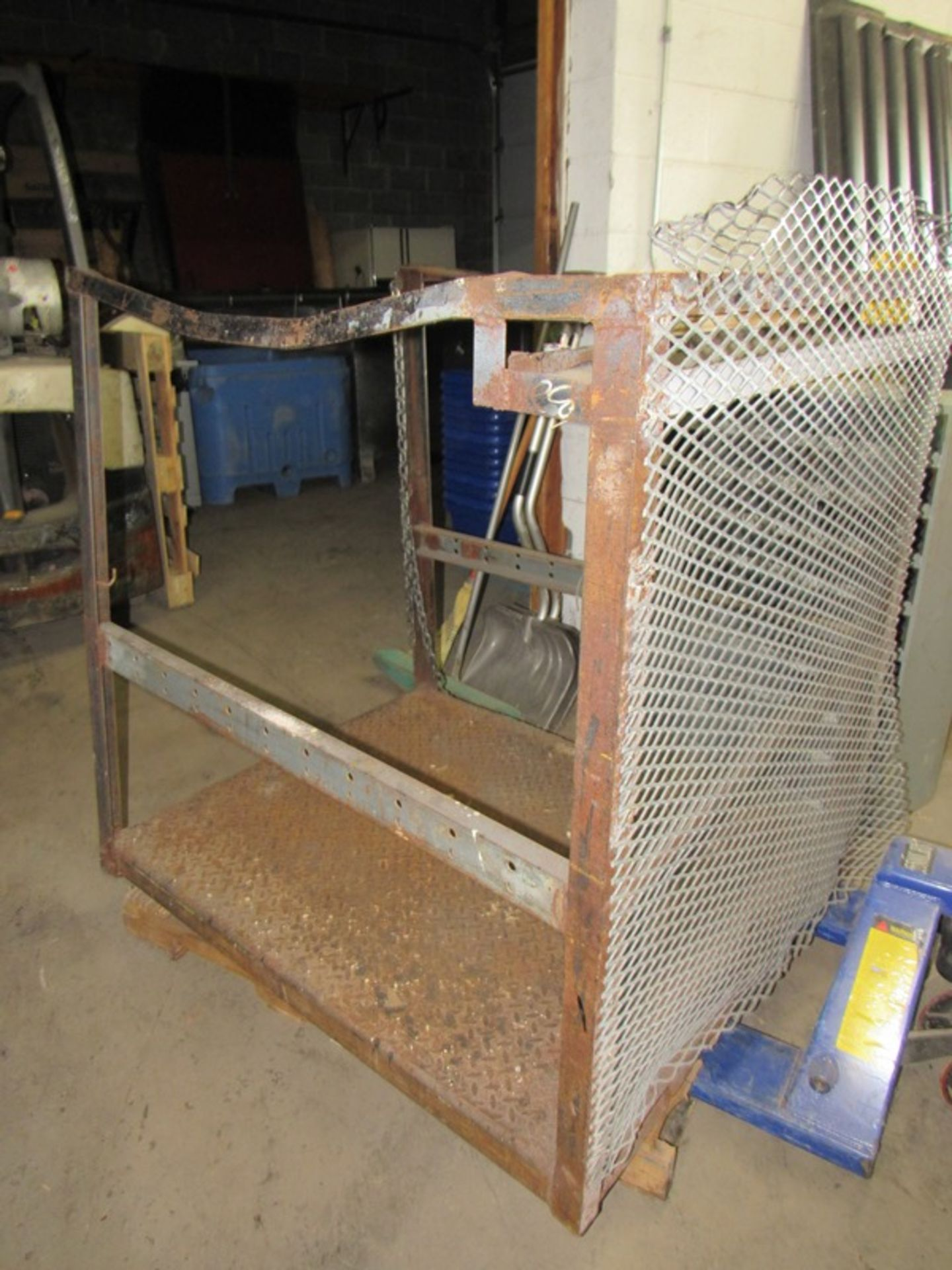 Lot 113 - Lot;(1) Forklift Safety Cage, Cage Sections, (1) 6' W X 8' T (3) 5'; W X 8' T, (1) Poly Section 5' T