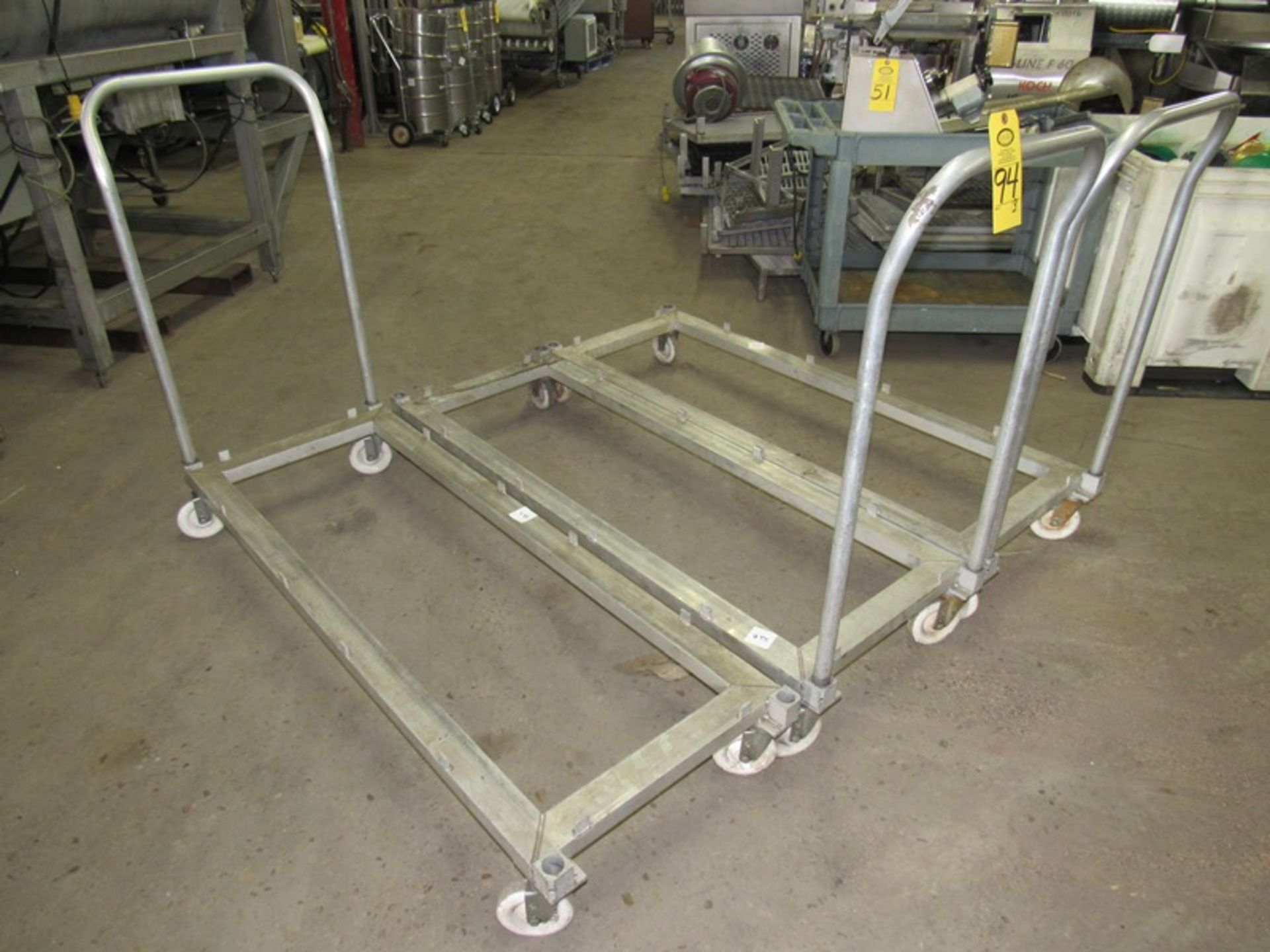 "Lot 94 - Aluminum Carts, 23"" W X 65"" L;;*** All Funds Must Be Received By Friday, January 17th, 2020.; All"