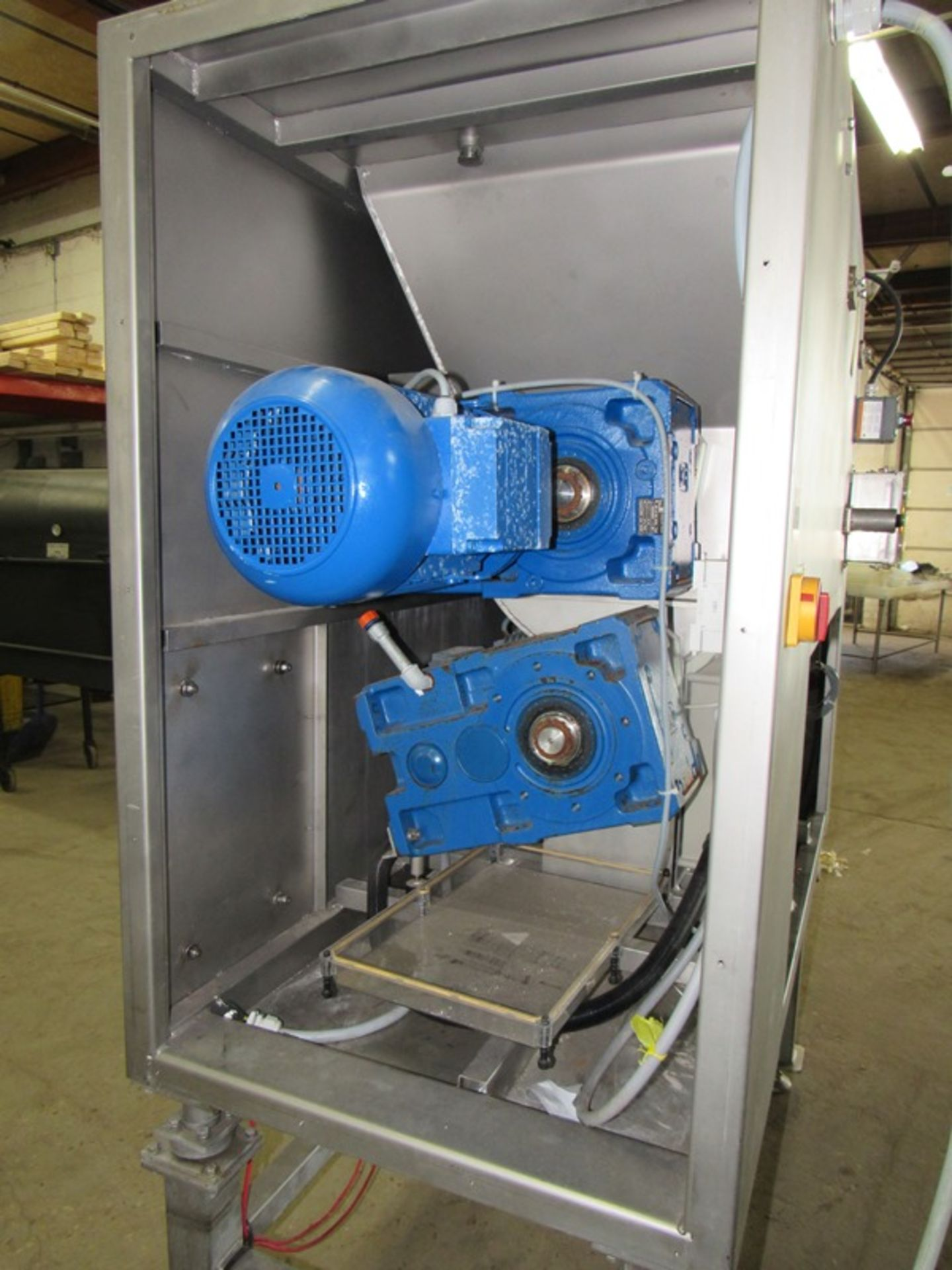 """Lot 31 - Hollymatic Mdl.; 4300 Mixer/Grinder, 6"""" head, on load cells, (no scale), with auger,missing ring,"""