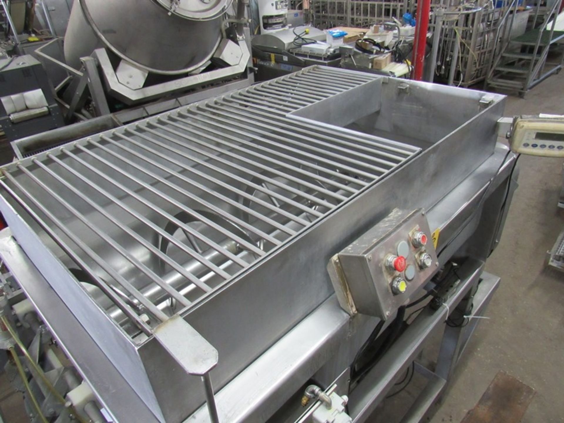 "Lot 33 - Stainless Steel Ribbon Blender, dual shaft, 3' W X 5' L X 21"" D, 1,000 Lb. capacity, dual front end"