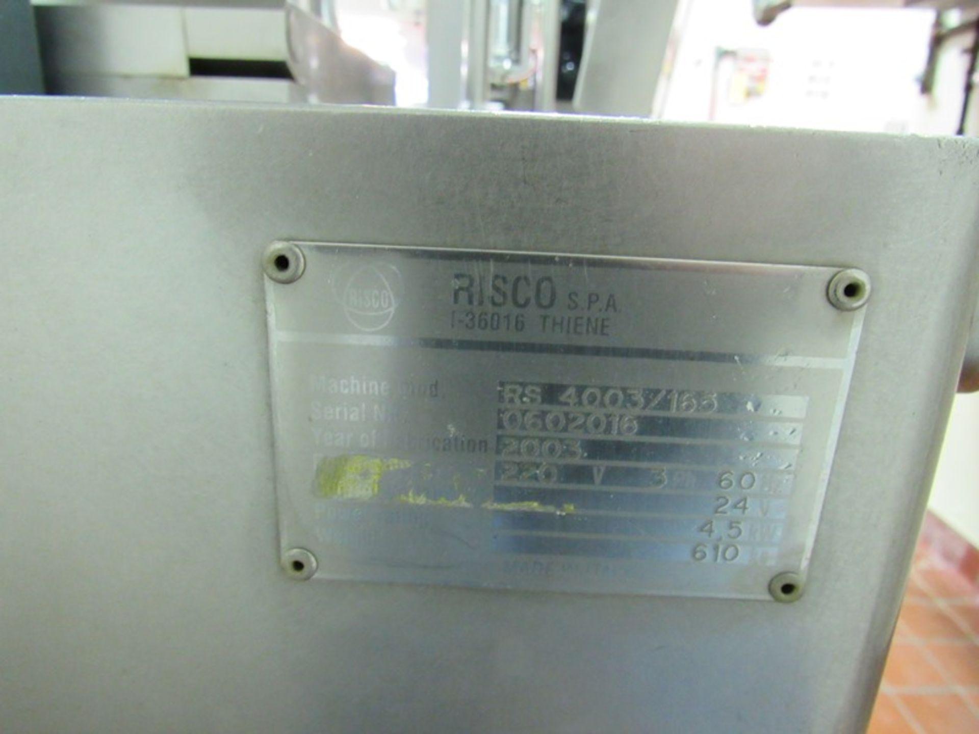 "Lot 32 - Risco Mdl. RS4003/165 Vacuum Stuffer, 32"" dia. X 24"" deep stainless steel hopper, Ser. #0602016, 220"
