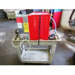 Arcabaleno Mdl. AEX30Stella Pasta Extruder, with 4 heads, on cart, 110 volts, Ser. #100810