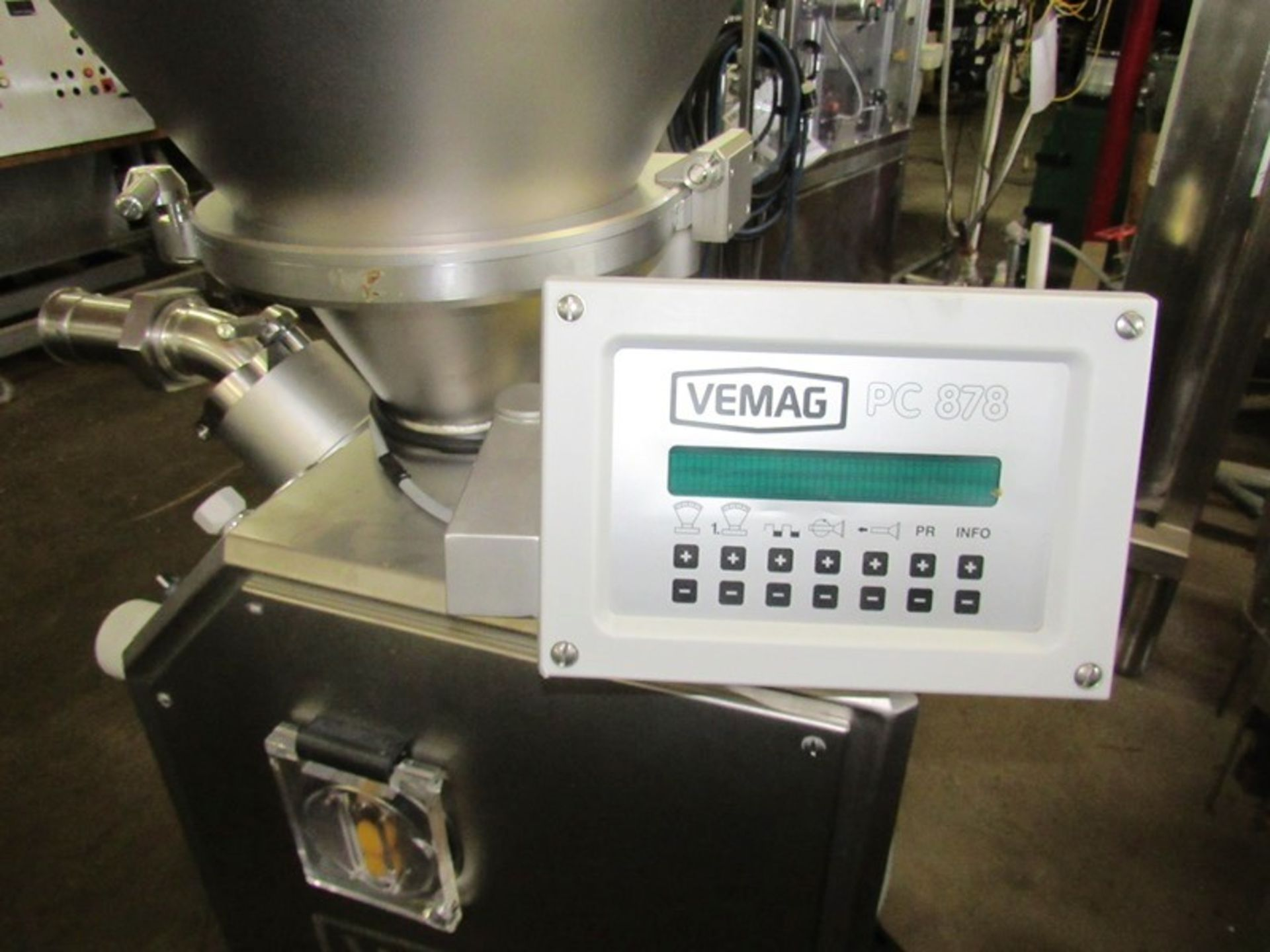 Lot 13 - Vemag Mdl. Robot 500 Continuous Stuffer, PC878 controls, Ser. #1285336 220 Volts