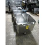 Stainless Steel Dump Buggies, 400 LB capacity, Euro style