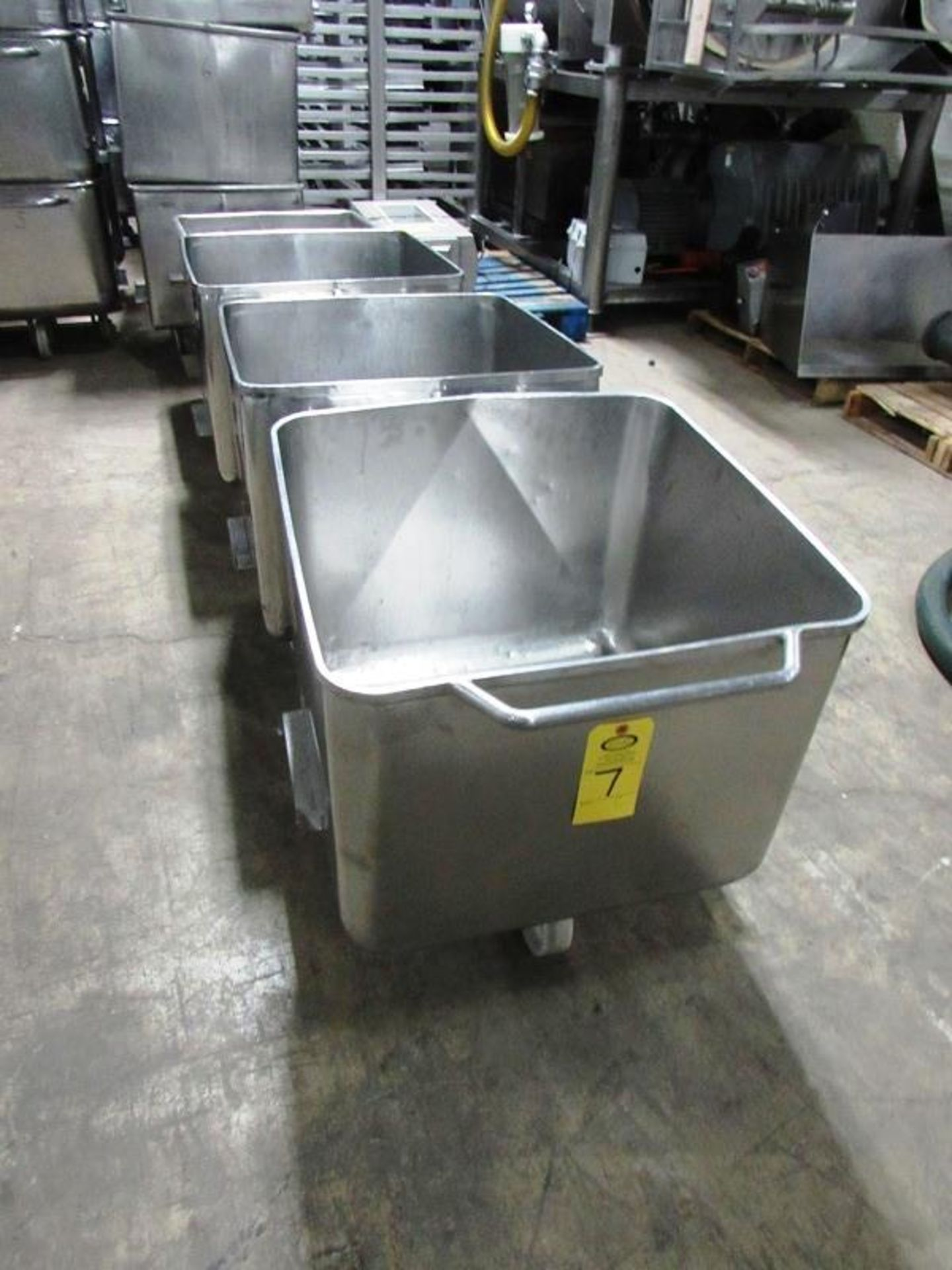 Lot 7 - Stainless Steel Dump Buggies, 400 LB capacity, Euro style