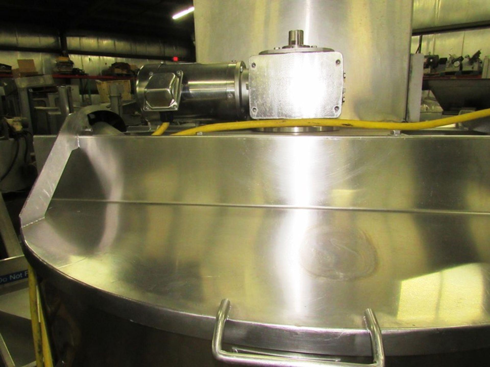 "Lot 10 - Chester Jensen Mdl. X70N5 Stainless Steel 150 Gallon Kettle, 44"" Dia. X 3' D , cone bottom, 3"""