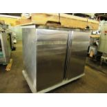 """Portable Stainless Steel Proofing Cabinet, 14 shelves, (7) each side, 20"""" W X 27"""" L shelves, 5"""""""