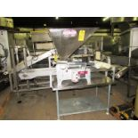 """Hinds Bock Mdl. 4P-08N Bakery Depositor, setup with 4 Up mold, 2"""" Dia. push rods, with additional"""