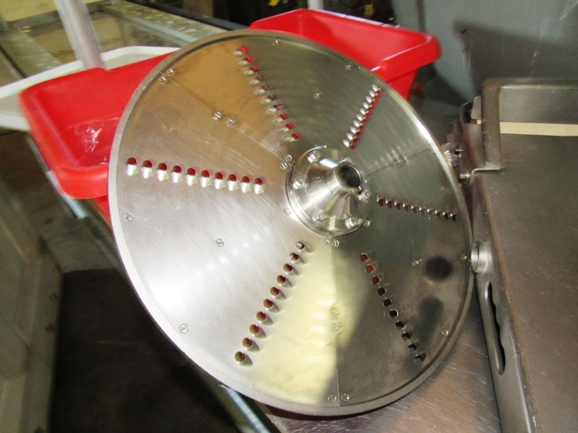 """Lot 16 - Treif Mdl. Argon Dicer, Ser. #410005.70131.106439, setup with 1/2"""" X 1 3/8"""" dicing head. 12"""" Wide"""