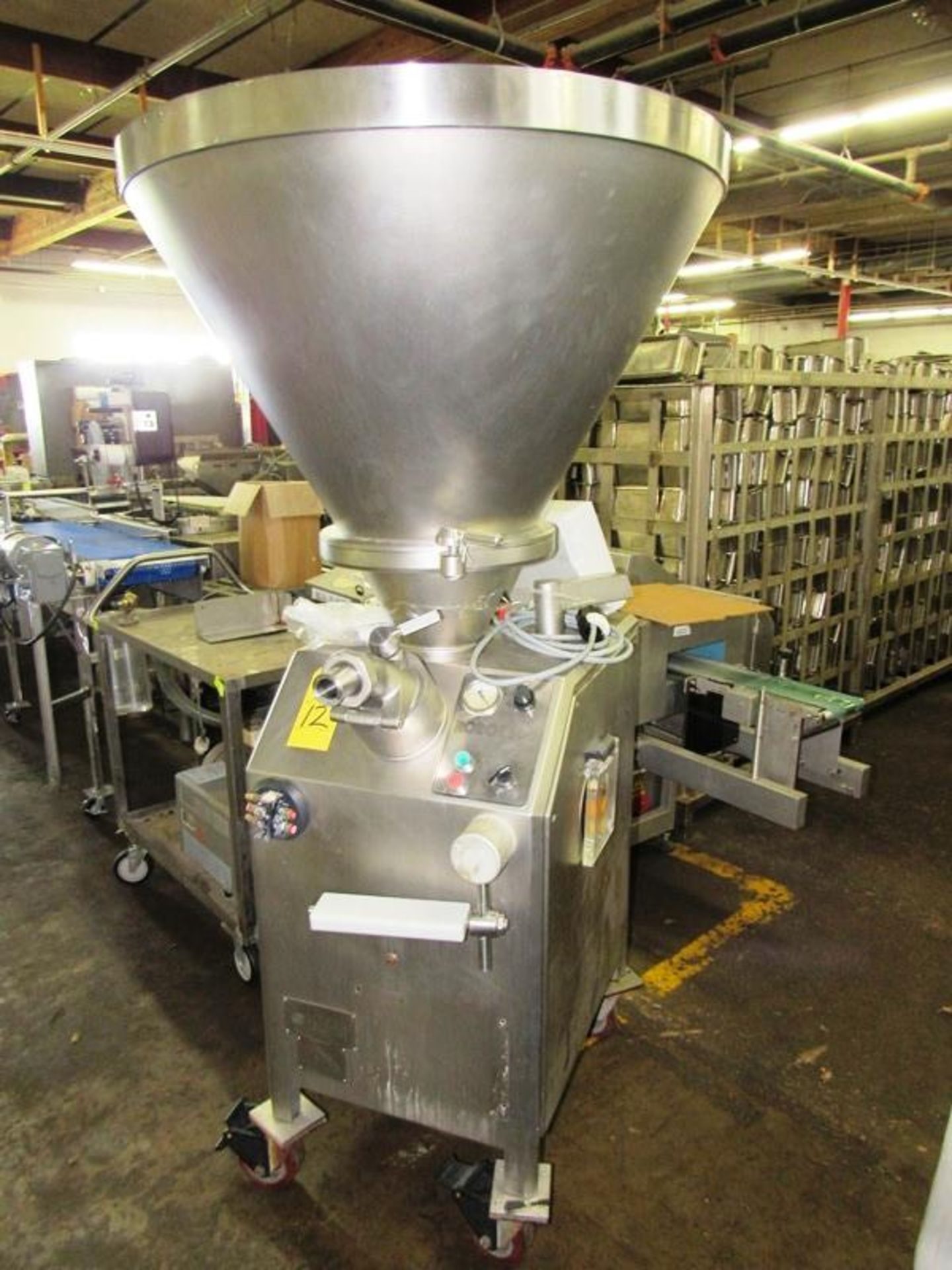 Lot 12 - Vemag Mdl. Robot 500 Continuous Stuffer, PC878 controls, Ser. #1284301, 220 volts