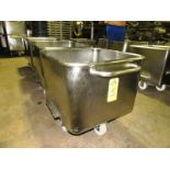 Stainless Steel Dump Buggies, 400 LB capacity, rolled lip, handle
