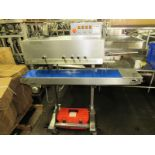 """Entre Pack Portable Continuous Band Sealer, 9"""" W X 55"""" L conveyor, adjustable height, 36"""" long"""