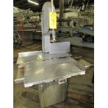 """Biro Bandsaw, stainless steel contact table, aluminum head 9"""" cutting area"""