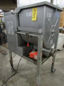 Hollymatic Mdl. 180 Mixer/Grinder, 200 Lb. capacity, 52 head, foot pedal side feed port, 10 h.p.,