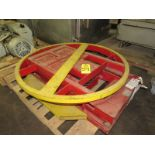 """Southworth Products Air PPAL Lift Table, 44"""" Dia. turntable, 36"""" W X 48"""" L base"""