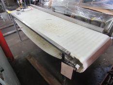 "Conveyor, 24"" W X 7' L plastic belt, hydraulic drive"