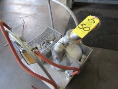 """Almatec Mdl. AD50SSEE-R Double Diaphragm Pump, 3"""" inlet/outlet, air operated mounted on stainless"""