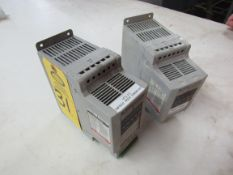 Lot of (1) Allen Bradley Power Flex 40 Cat. No. 160BA10NPS1 & (1) Allen Bradley Power Flex 40 Cat.