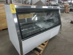 """Hussmann Mdl. GND-6 Glass Front Refrigerated Deli Case, 34"""" W X 6' L X 44"""" T, 115 volts, 1 phase,"""